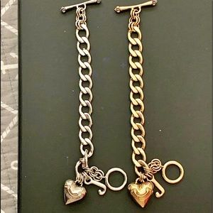 CLASSIC JUICY COUTURE Puff Heart Charm Bracelets!